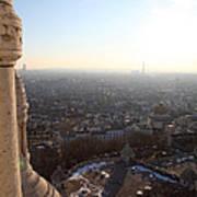 View From Basilica Of The Sacred Heart Of Paris - Sacre Coeur - Paris France - 011310 Art Print
