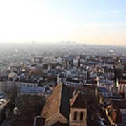 View From Basilica Of The Sacred Heart Of Paris - Sacre Coeur - Paris France - 011318 Art Print