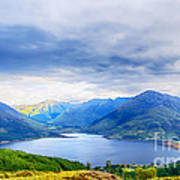 View From Bealach Ratagan To The Five Sisters Of Kintail Art Print
