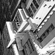 View From Edificio Martinelli Bw - Sao Paulo Art Print