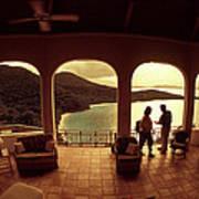 View From Hawks Nest Villa In Virgin Islands Art Print