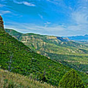 View From Knife Edge Road Overlooking Montezuma Valley In Mesa Verde National Park-colorado   Art Print