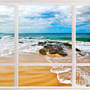 View From My Beach House Window Art Print