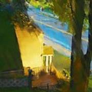 View From My Window On A Summer Afternoon  B-12 Art Print