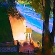 View From My Window On A Summer Afternoon  B-15 Art Print