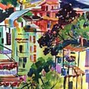 View From Our Hotel Window Cinque Terre Art Print