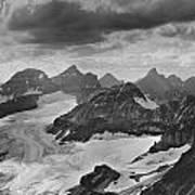 T-303501-bw-view From Quadra Mtn Looking Towards Ten Peaks Art Print