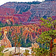 View From Queen's Garden Trail In Bryce Canyon National Park-utah Art Print