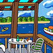 View From The Porch - Cedar Key Art Print