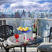 View From The Terrace Art Print