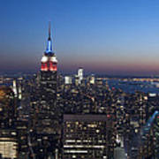 View From The Top Of The Rock Art Print