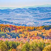 View From Vitosha Mountain Near Sofia City Art Print