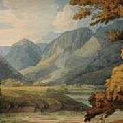 View In Borrowdale Of Eagle Crag And Rosthwaite Art Print