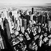View North East Of Manhattan Queens East River From Observation Deck Empire State Building Art Print by Joe Fox