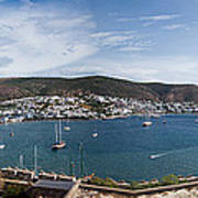 View Of A Harbor From A Castle, St Art Print
