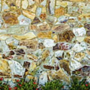 View Of A Stone Wall Art Print