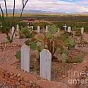 View Of Arizona From Boothill Cemetery Art Print