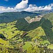View Of Arthur Range In Kahurangi Np Of New Zealand Art Print