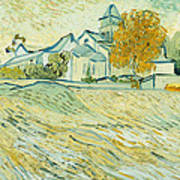 View Of Asylum And Saint-remy Chapel Print by Vincent van Gogh