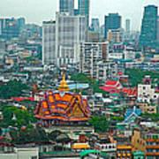 View Of Bangkok Buildings From Grand China Princess Hotel In Bangkok-thail Art Print