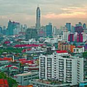 View Of Bangkok Near Dusk From Grand China Princess Hotel In Bangkok-thailand Art Print