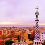 View Of Barcelona Art Print by Maeve O Connell