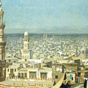 View Of Cairo Art Print by Jean Leon Gerome