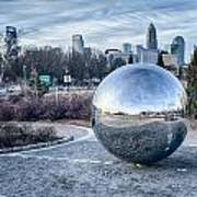 View Of Charlotte Nc Skyline From Midtown Park Art Print