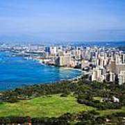 View Of Downtown Honolulu Art Print