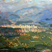 View Of Elbasan City Art Print