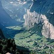 Amazing View Of Swiss Valley Art Print
