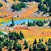 View Of Lake Art Print