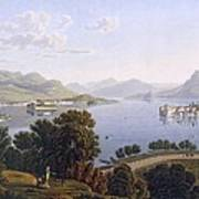 View Of Lake Maggiore And The Borromean Art Print