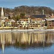 View Of Lambertville Nj From New Hope Pa-winter 2  Art Print