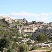 View Of Les Baux De Provence Art Print