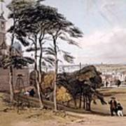 View Of London From Greenwich Park, 1842 Art Print