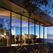 View Of Luxurious Resort At Dusk Art Print
