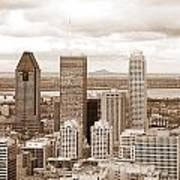 View Of Montreal In Sepia Art Print
