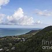 View Of Ocean And Punta Tuna In Puerto Rico Art Print