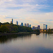 View Of Philadelphia From The Girard Avenue Bridge Art Print by Bill Cannon