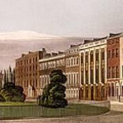 View Of Portman Square, North Side, 1816 Art Print
