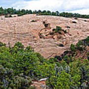 View Of Rock Dome Surface From Sandal Trail Across The Canyon In Navajo National Monument-arizona Art Print
