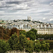 View Of Sacre Coeur From The Musee D'orsay Art Print