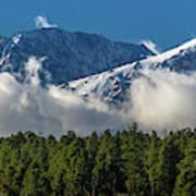 View Of San Juan Mountains With Clouds Art Print