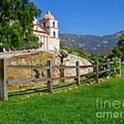 View Of Santa Barbara Mission Art Print