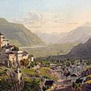 View Of Sion, Illustration From Voyage Art Print