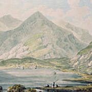 View Of Snowdon Wc On Paper Art Print