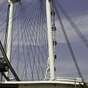 View Of Spokes Of The Singapore Flyer Along With The Base Section Art Print
