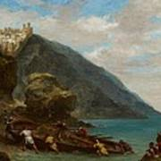 View Of Tangier From The Seashore Art Print