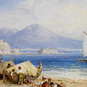 View Of The Bay Of Naples Art Print
